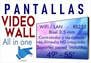 """Pantallas para VideoWall 49"""" 55"""" con controlador y reproductor multimedia incorporado"""