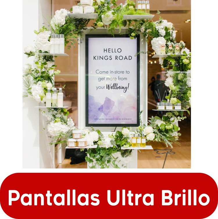 EUTIKES - Pantallas Escaparates UltraBrillo 1500 Nits