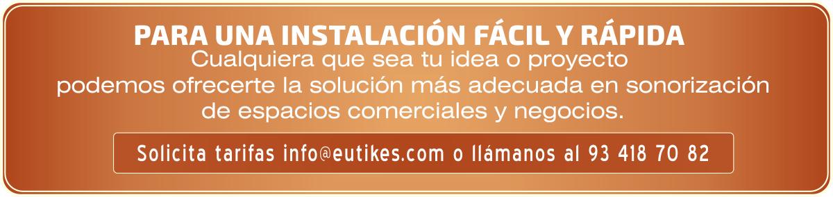 EUTIKES - Productos para sonorización de locales y negocios