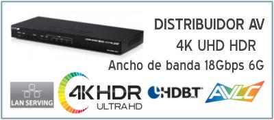 EUTIKES - Distribuidor de señal de vídeo 4K UHD