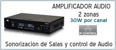 EUTIKES - Amplificador de Audio de 2 zonas