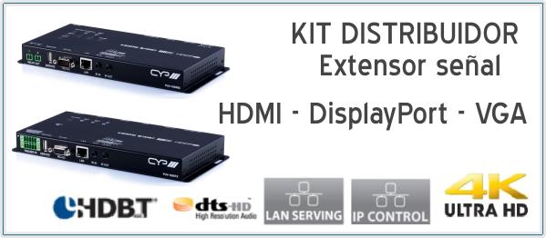 EUTIKES - Extensor de señal de vídeo 4K UHD