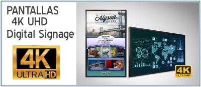 EUTIKES - Pantallas 4K UHD para Señalización Digital (Digital Signage)