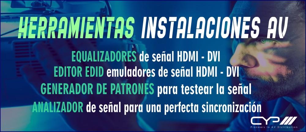 Instalaciones Audiovisuales - Generador de patrones DHMI y analizadores de señal