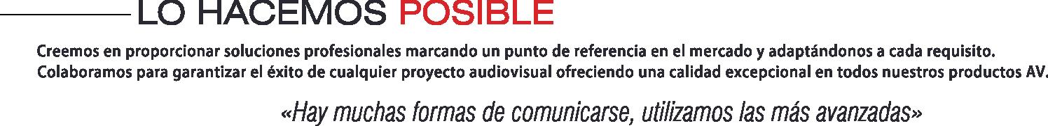 EUTIKES - Creemos en proporcionar soluciones profesionales marcando un punto de referencia en el mercado y adaptándonos a cada requisito.  Colaboramos para garantizar el éxito de cualquier proyecto audiovisual ofreciendo una calidad excepcional en todos nuestros productos AV.