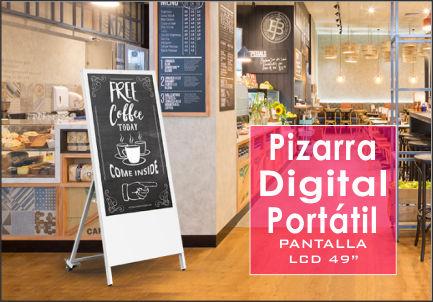 Pizarra digital portatil - Pantalla publicitaria portátil