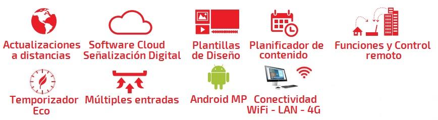 EUTIKES-Reproductor Multimedia para señalización Digital Wifi - LAN - 4G