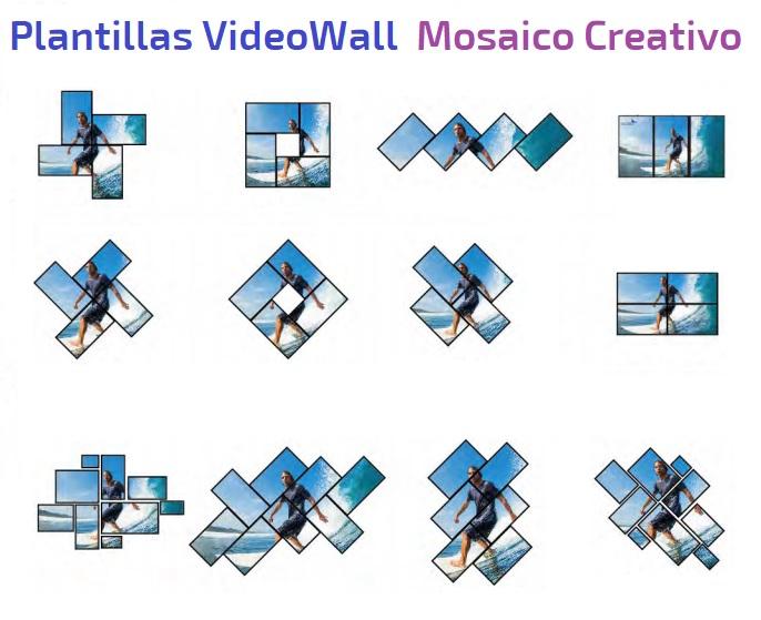 EUTIKES - VideoWall Creativo Mosaico G4K Pro Seada