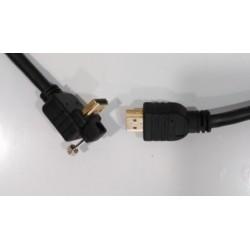 Cable ETK High Speed HDMI acodado 90 grados (3 metros)