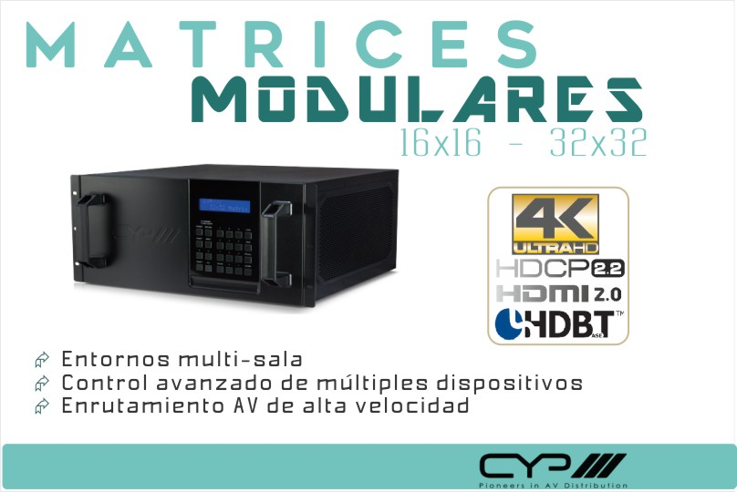 Matrices Modulares para espacios multi-sala y conferencias