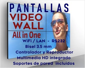Cartelería Digital -Video Walls Pantallas